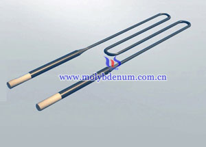 W-shaped molybdenum disilicide rod